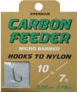 Drennan Carbon Feeder Barbed Hooks to Nylon