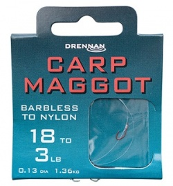 Drennan Carp Maggot Barbless Hooks to Nylon