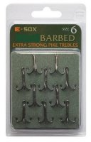Drennan E-Sox Barbed Pike Trebles