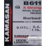 Kamasan B611 Barbed Hooks To Nylon