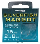 Drennan Silverfish Maggot Barbless Hooks  to Nylon