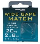 Drennan Wide Gape Match Barbed Hooks to Nylon