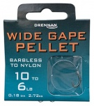 Drennan Wide Gape Pellet Barbless Hooks to Nylon