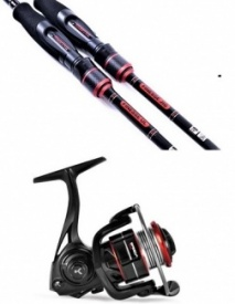 Korum Predator rod and reel combos