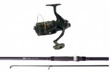 Tackleup carp rod and reel combo set